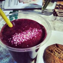 Purple Rose with Sesame Cookie
