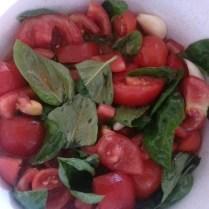 olio, aglio, pomodoro, basilico
