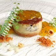 cheesecake erborinato macis e fruit passion
