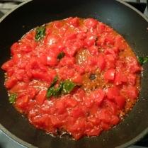 pomodoro in cottura
