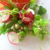 raw vegetables with Bagna Cauda