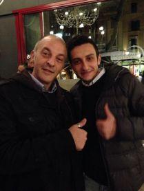 Patrick Ricci e chef Leonardo dell?Osteria dei Sassi