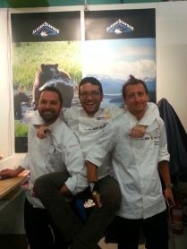 gli chef Dal Degan, Iannotti, Milone